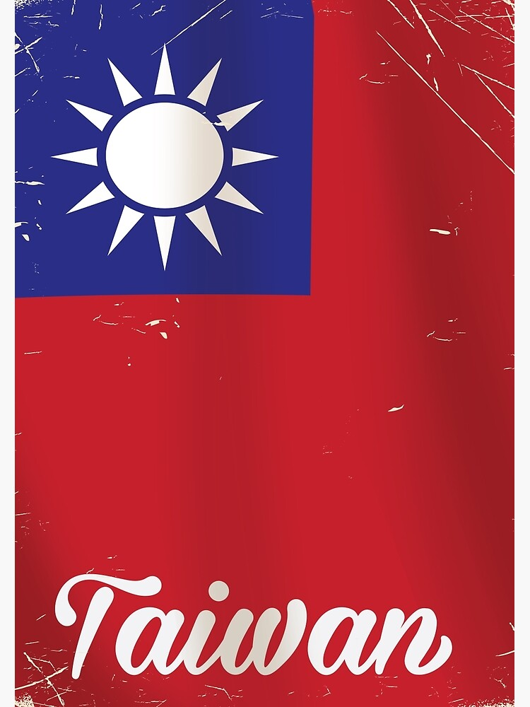 Taiwan National Flag Travel poster  by vectorwebstore