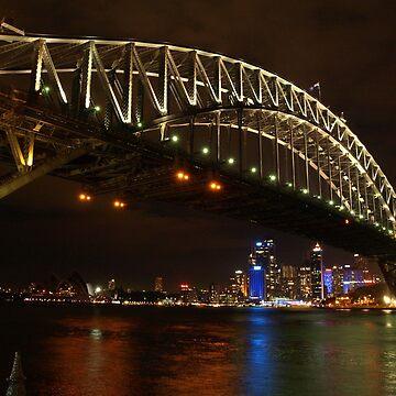 Sydney Harbour Bridge - Vivid Festival 2012 by CassarrArt