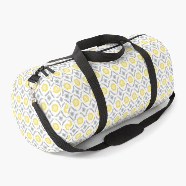 Yellow and Grey Print Design 4 Duffle Bag