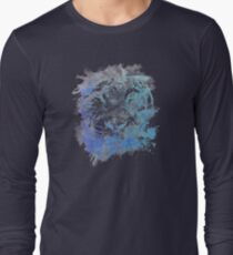 Abstract Watercolor Tiger Portrait / Face Long Sleeve T-Shirt