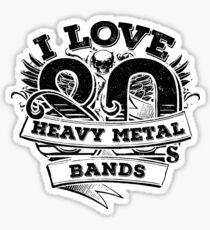 I love 80s Heavy Metal Bands Sticker