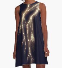 Lightning Bolt on Indigo A-Line Dress