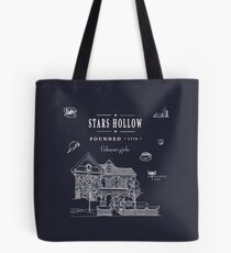 Stars Hollow Collage Tote Bag