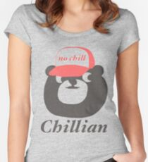 no chill bear Women's Fitted Scoop T-Shirt