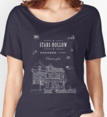 Camiseta ancha para mujer Estrellas Hueco Collage