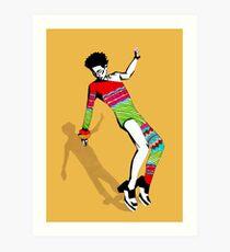 Funky Colorful Dancer Art Print