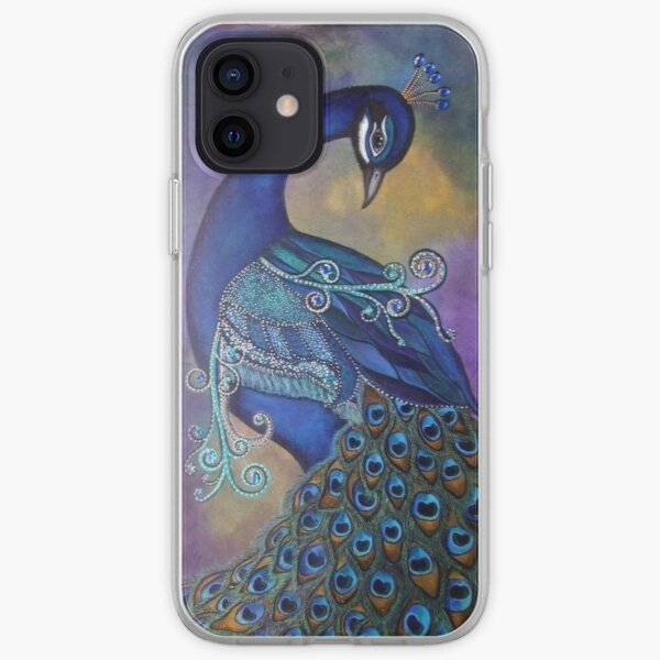 Beautiful Blue Peacock iPhone Soft Case