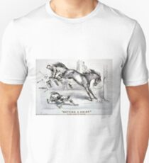 Getting a hoist - a bad case of the heaves - 1875 - Currier & Ives T-Shirt