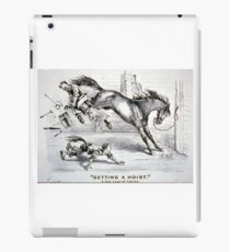 Getting a hoist - a bad case of the heaves - 1875 - Currier & Ives iPad Case/Skin