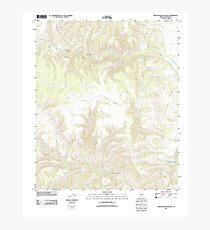 USGS TOPO Map Arizona AZ Willow Mountain SE 20111031 TM Photographic Print