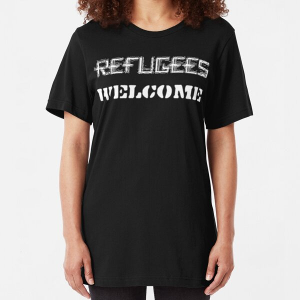 Refugees Welcome Slim Fit T-Shirt