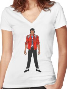 Beat IT Jackson Women's Fitted V-Neck T-Shirt