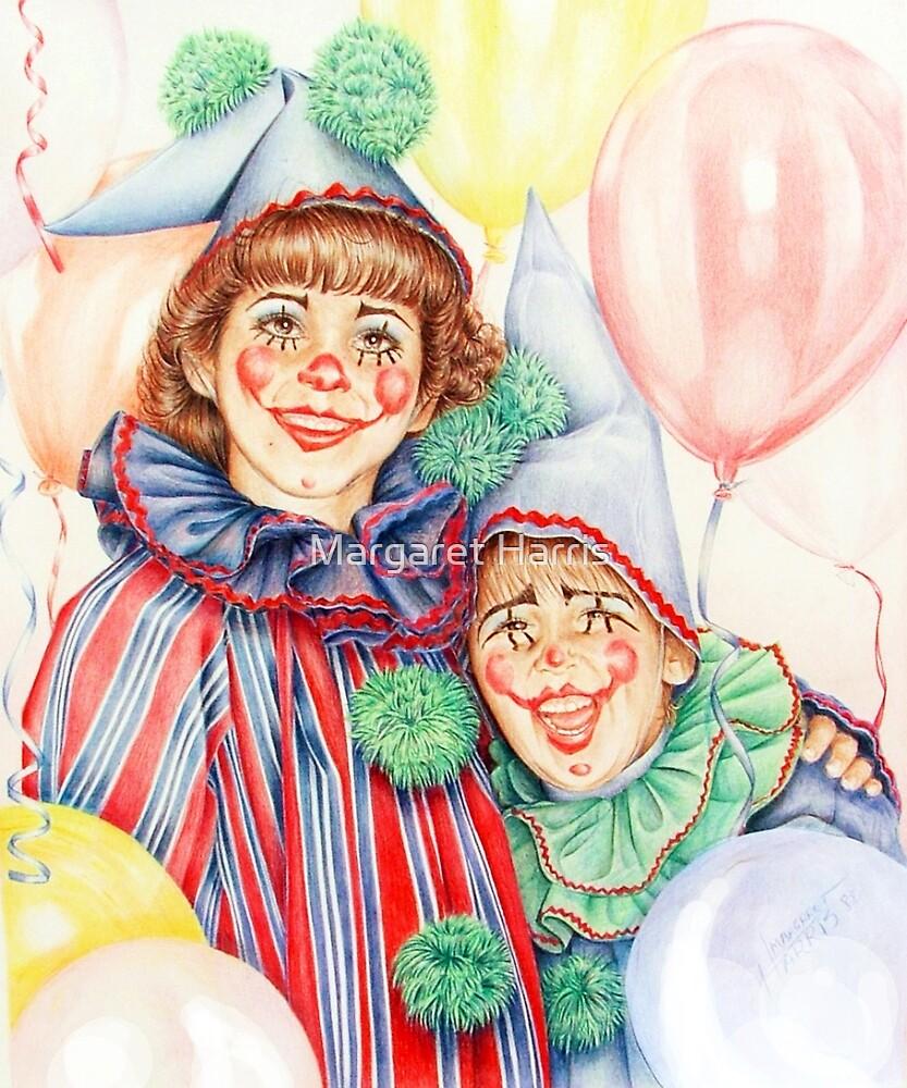 Clowns Happy Halloween! by Margaret Harris