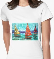 Sailboat Dreams Women's Fitted T-Shirt