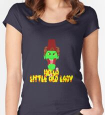 """Kettle Witch-""""Hello, Little Old Lady"""" Women's Fitted Scoop T-Shirt"""