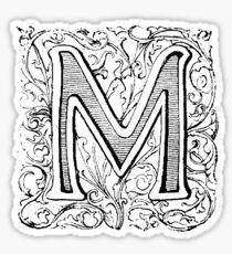 Floral Alphabet Letter M Sticker