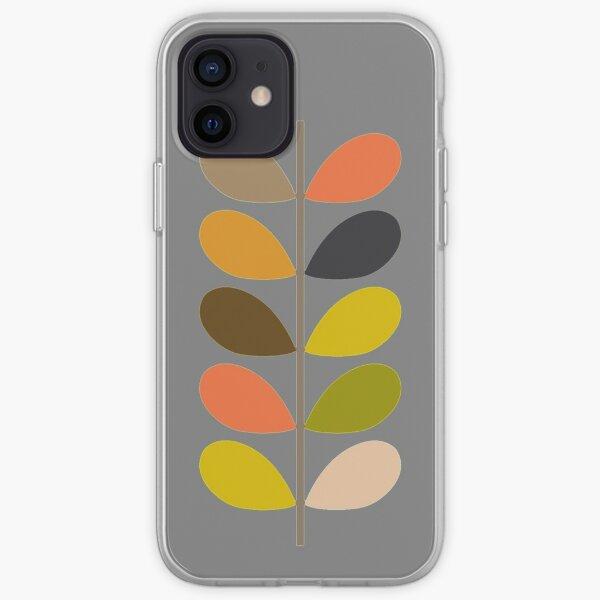 conception abstraite tige colorée-orla kiely Coque souple iPhone