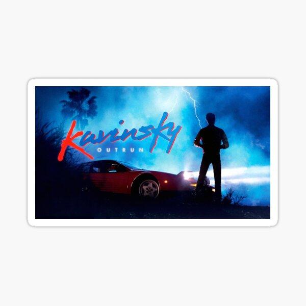 Kavinsky outrun Sticker