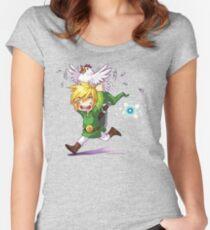 Cucco Run! - Legend of Zelda Women's Fitted Scoop T-Shirt
