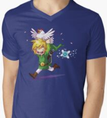Cucco Run! - Legend of Zelda Men's V-Neck T-Shirt