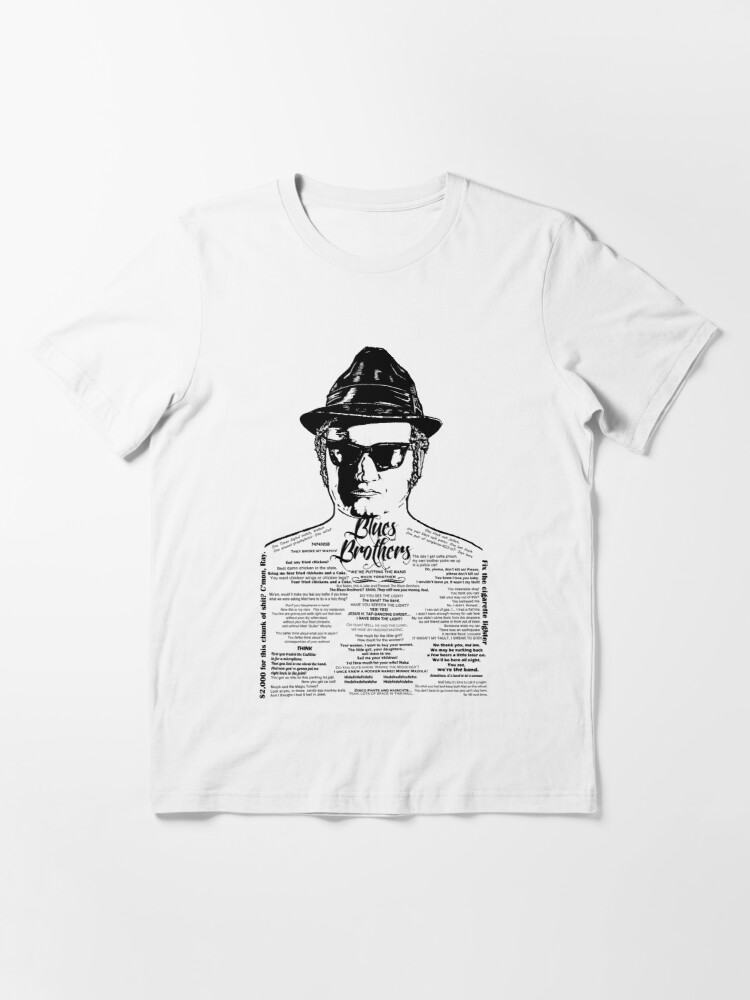 Alternate view of Jake Blues Brothers tattooed 'Four Fried Chickens' Essential T-Shirt