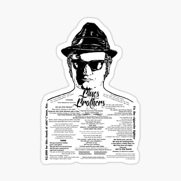 Jake Blues Brothers tattooed 'Four Fried Chickens' Sticker
