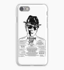Elwood Blues Brothers tattooed 'Dry White Toast' iPhone Case/Skin