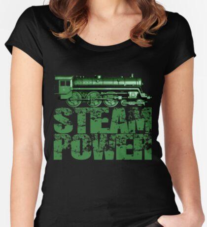 Steam Power Vintage Steam Loco Women's Fitted Scoop T-Shirt