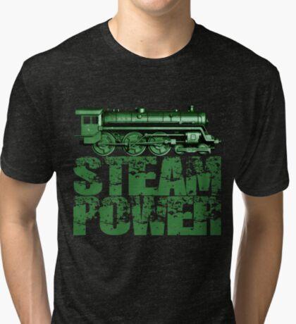Steam Power Vintage Steam Loco Tri-blend T-Shirt