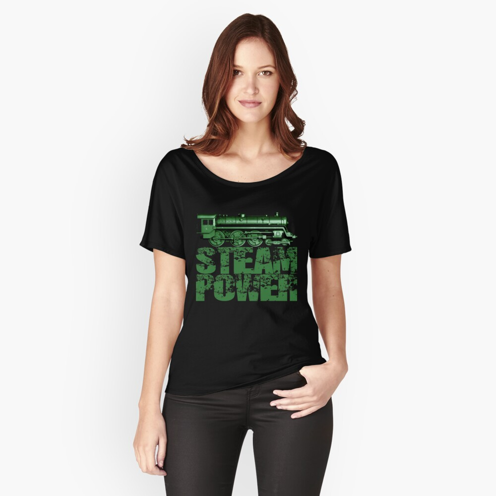 Steam Power Vintage Steam Loco Relaxed Fit T-Shirt