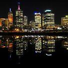 Melbourne City By Night by John  Kowalski