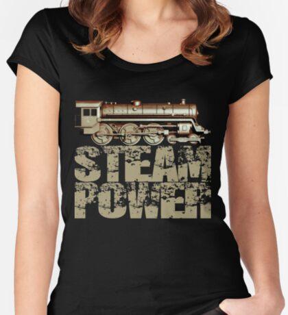 Steam Power Vintage Steam Engine Women's Fitted Scoop T-Shirt