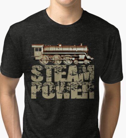 Steam Power Vintage Steam Engine Tri-blend T-Shirt