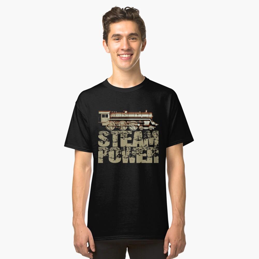 Steam Power Vintage Steam Engine Classic T-Shirt Front