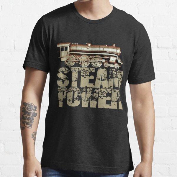 Steam Power Vintage Steam Engine Essential T-Shirt