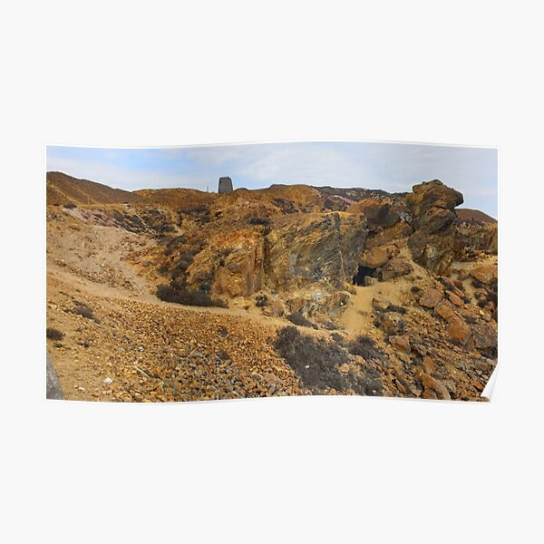 Inside the quarry at Parys Mountain Poster