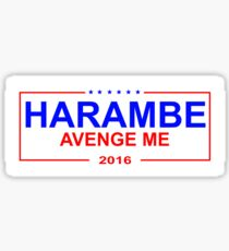 Harambe 2016 - sticker Sticker