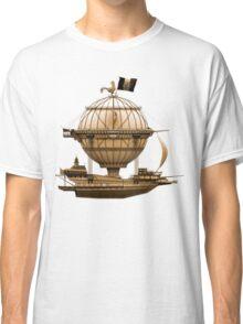 Steampunkesque Vintage Hot Air Balloon Airship Thing Classic T-Shirt