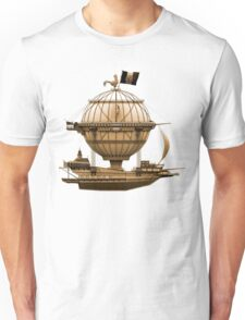 Steampunkesque Vintage Hot Air Balloon Airship Thing T-Shirt
