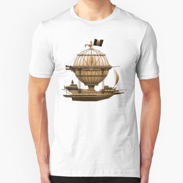 Steampunkesque Vintage Hot Air Balloon Airship Thing Slim Fit T-Shirt