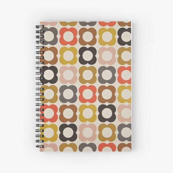 abstrakte bunte blumen - orla kiely design Spiralblock