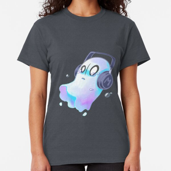 Keep Calm and Haunt On Ghost Boo Halloween Scare Scary Juniors V-neck T-shirt