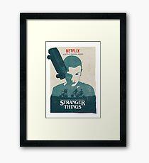 Car Stranger Things Framed Print