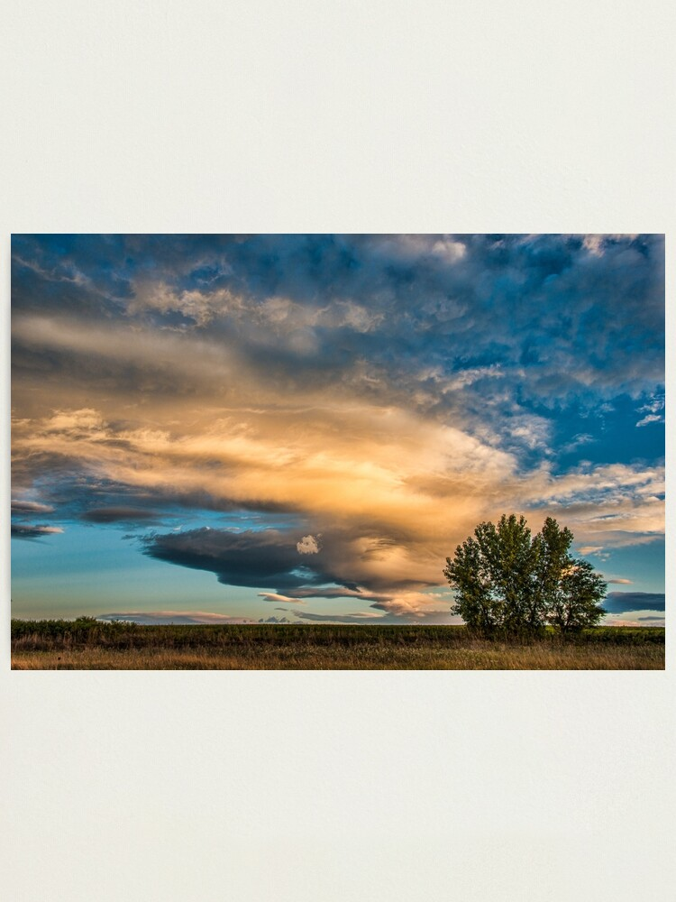 Alternate view of Light Storm On The Plains Photographic Print