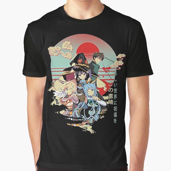 Konosuba japanese anime vintage design Graphic T-Shirt