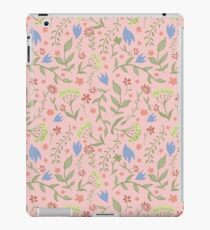 Trendy Pink Floral Pattern - Japanese Brush iPad Case/Skin