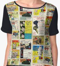 Vintage Comic Ads Women's Chiffon Top