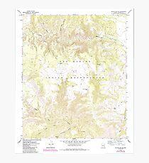 USGS TOPO Map Arizona AZ Willow Mtn SE 314131 1967 24000 Photographic Print
