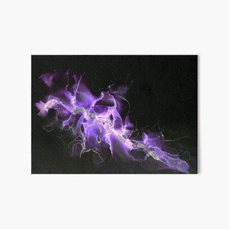 Vibrant purple and white abstract Art Board Print