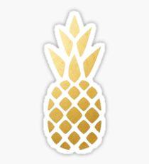 gold pinapple Sticker
